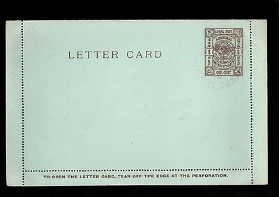 CHINA SHANGHAI LOCAL POST LETTER CARD One Cent PREPAID 1894 Shanghai Cds - CPH56