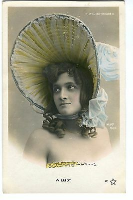 CPA photo RPPC dancer Miss Williot Waléry série n°700 TH. 56 Moulin Rouge