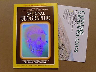 National Geographic Magazine - November 1985 - Canada Vacationlands Map Included