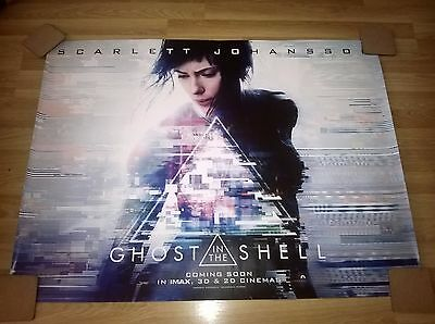 Original Cinema Movie Quad Ghost In The Shell Free Postage Uk!!