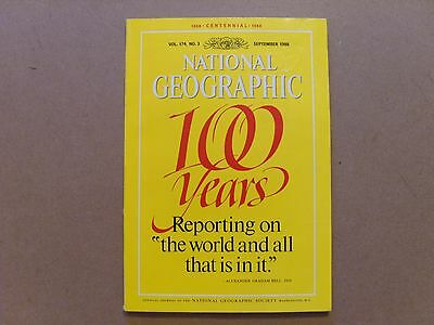 National Geographic Magazine - September 1988 - See Images For Contents