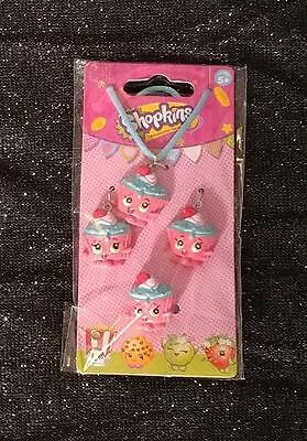 Shopkins Cupcake Chic Necklace Earrings Ring Jewelry Set NEW Fastest Shipping