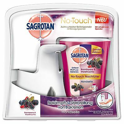 Dettol Sagrotan No-Touch Automatic Hand Wash Soap Dispenser Wild Berry 250ml
