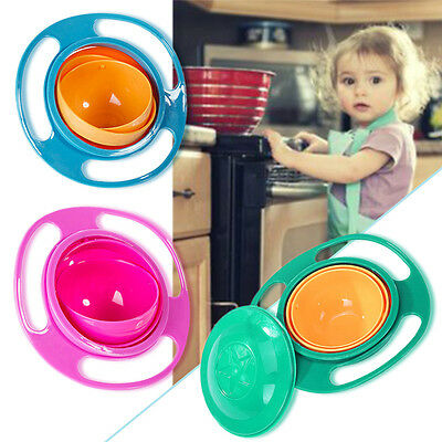 360 Degree Rotation Anti-overflow Bowl Children Learn to Eat Anti-turn Food Bowl
