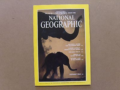 National Geographic Magazine - August 1989 - See Images For Contents