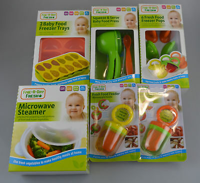 Baby Feeding Set Weaning Cubes Freezer Tray BPA Free Steamer Food Press Kitchen