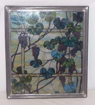 "MMA Metrapolitan Museum of Art Tiffany Style Stained Glass Art Panel 9.75""x8.75"""