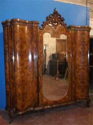 Beautiful Antique Chippendale Walnut Bedroom Set Armoire - 15It005A