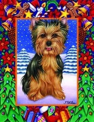 Large Indoor/Outdoor Christmas Flag - Yorkshire Terrier Yorkie (TP) 68010