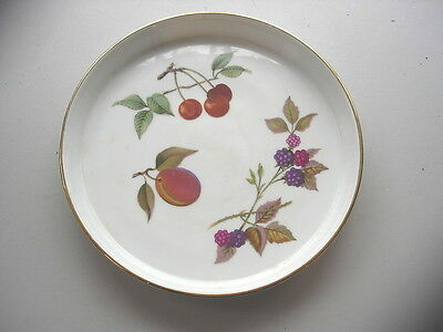 """1960S Royal Worcester Evesham Style Pattern  7"""" Oven To Table Shallow  Tart Dish"""