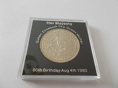 Queen Elizabeth The Queen Mother 80th Birthday Aug 4th 1980 Crown in hard case