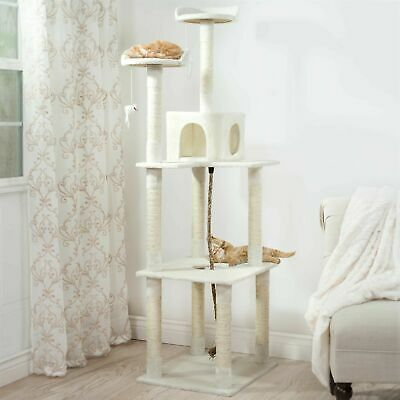 Kitty Cat Condo House with Perches and Scratching Posts 70 Inches High