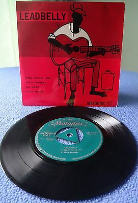 Leadbelly The Music Of Huddie Ledbetter 1958 Four Track Ep Beautiful Copy.