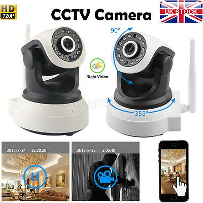 720P HD Wireless IP Network Camera Night Vision Motion Detection Security IR Cut