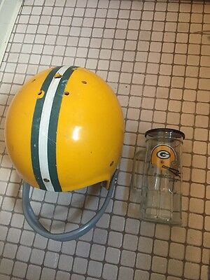 Old Kent Green Bay Packers NFL Style Football Helmet & Fisher Peanut Mug