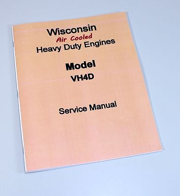 Wisconsin Vh4D Engine Service Repair Manual Technical Shop Book Overhaul