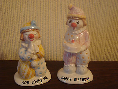 2 X Beswick Little Lovables Figures ~ God Loves Me & Happy Birthday