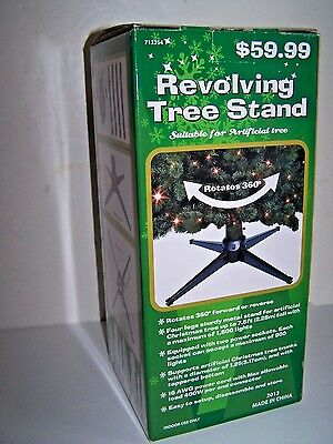 Revolving Rotating Artificial ChristmasTree Stand New in Box $60 Retail