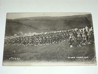 9th VOLUNTEER ROYAL SCOTS AT STOBS CAMP 1905 PRE WW1 MILITARY POSTCARD!