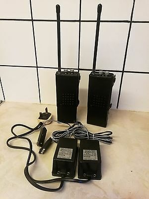Pair of Vintage Philips Pye PF85 2 Way Radio's & Chargers