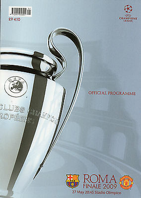 2009 Champions League Final Manchester United v Barcelona Football Programme.