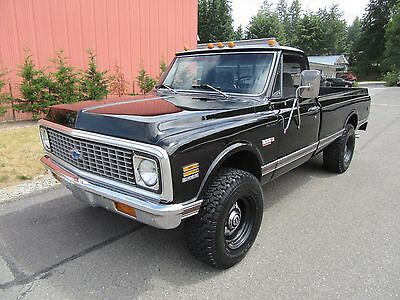 "1972 Chevrolet Cheyenne  1972 Chevrolet Truck Pickup  ""Black Beauty"" 3/4 Ton C\K Super Cheyenne  4x4"
