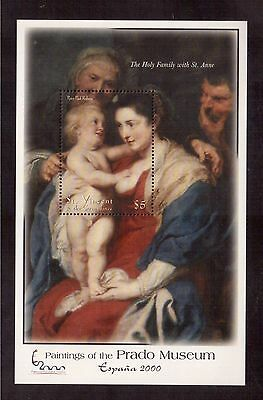 St.vincent & The Grenadines 2001 #2866 S/s Mint Nh Peter Paul Rubens Painting !!