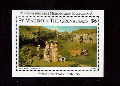 St. Vincent & The Grenadines 1996 #2266 S/s Vf Nh Metropolitan Museum !!