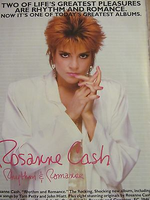 Roseanne Cash, Rhythm and Romance, Full Page Vintage Promotional Ad