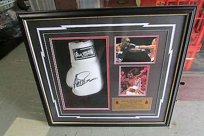 Azumah Nelson The professor signed Boxing glove framed picture