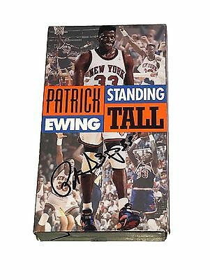 Nba Patrick Ewing Standing Tall Hand Signed Autographed Vhs Tape With Coa
