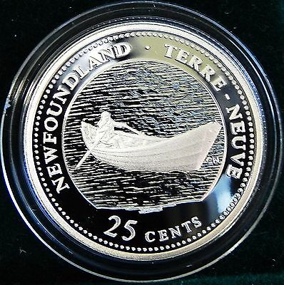 Proof 1992 Canada Sterling Silver 25 cent Newfoundland Provincial coin