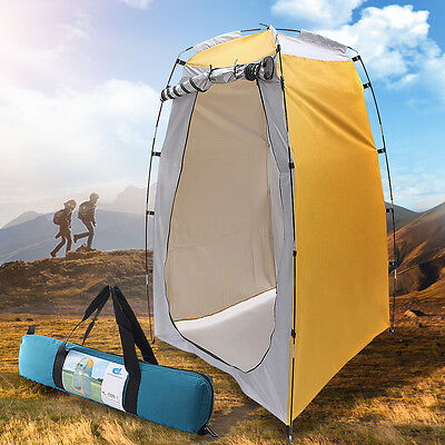 Portable Pop UP Camping Fishing Bathing Shower Toilet Changing Tent Room Yellow
