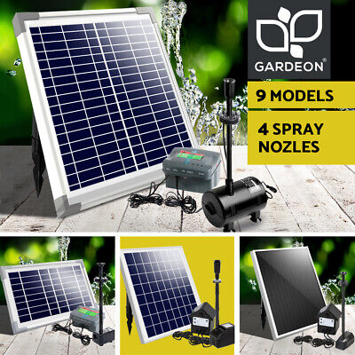 5-100W Solar Powered Water Pond Pump Kit Battery Outdoor Fountain Submersible
