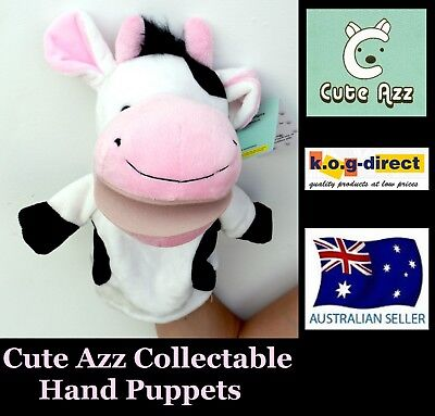 Collectable Cute Azz Plush Animal Hand Puppet Cow B-55