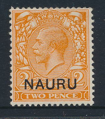 1923 NAURU 2d DULL ORANGE Die II SG5 MINT MH/MM