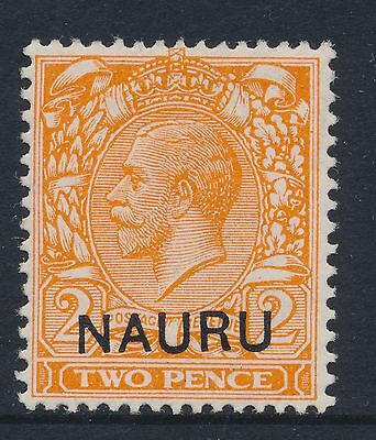1923 NAURU 2d DULL ORANGE Die II SG5 MINT MH/MM DROPPED (SLOPING) CLICHE