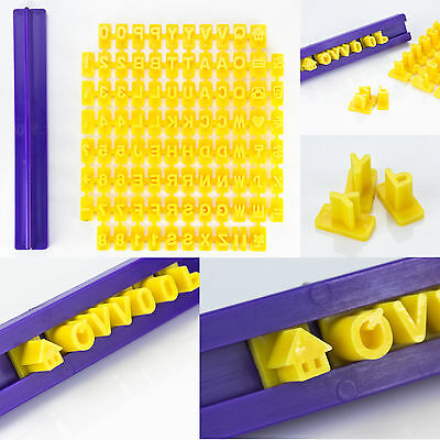 92pcs Alphabet Number Letter Fondant Cake Decorating Set Icing Cutter Mold Mould