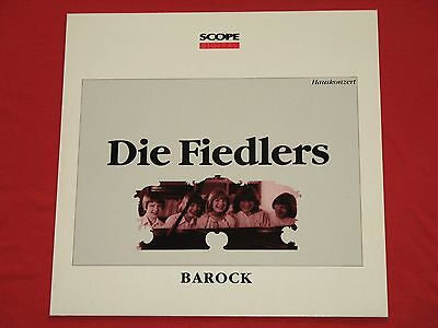 Die Fiedlers - LP  Hauskonzert, Barock Chorsätze (Hausmusik) / SCOPE Digital