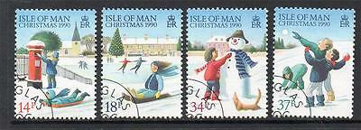 Isle Of Man Used 1990 Sg459-462 Christmas