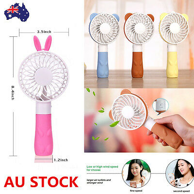Portable Mini HandHeld Cooling Fan USB Rechargeable Air Travel Cooler Battery