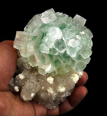 Apophyllite Froasted (Disco) Light Green Ball On Stilbite # B 2558