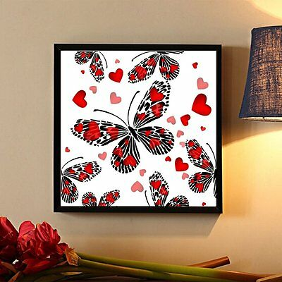 Butterflies And Heart Pattern 35*35cm Diamond Embroidery Paint By Number Kits OM