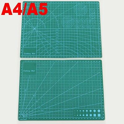 Helix A4 A5 Cutting Mat Board Double Side Self Healing Nonslip Printed Grid Line