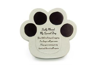 Special Dog Stone Graveside Memorial Scroll Ornament DF13621