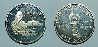U.s.a.  Silver Half Dollar 1993  - Bill Of Rights  - Proof