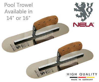 "NELA Stainless Steel Swimming Pool Rounded Corner Trowel Available In 14"" or 16"""