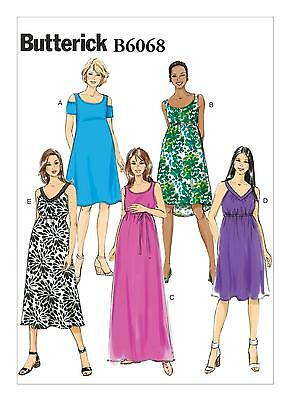 Butterick Easy SEWING PATTERN B6068 Misses Maternity Dress & Belt 6-14 Or 14-22