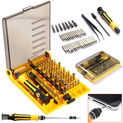 45pc in 1 Precision Hex Torx Star Screwdriver Set & Bits Mini Repair Tool Kit