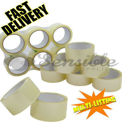 Strong Clear Parcel Packaging Packing Polyprop Tape Carton Sealing 48Mm X 66M